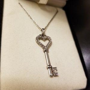 Diamond key necklace 1/15 ct